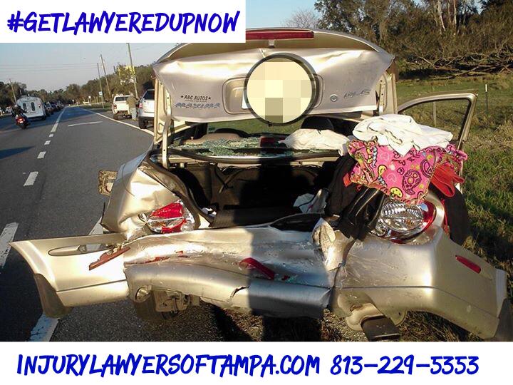 Rear end collision Tampa Florida