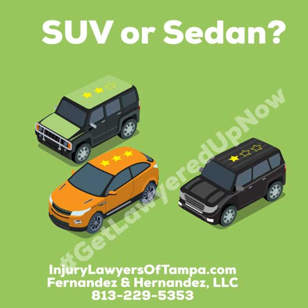 What S Safer In An Accident Is An Suv Safer Than A Car Or Sedan Personal Injury Lawyers Of Tampa