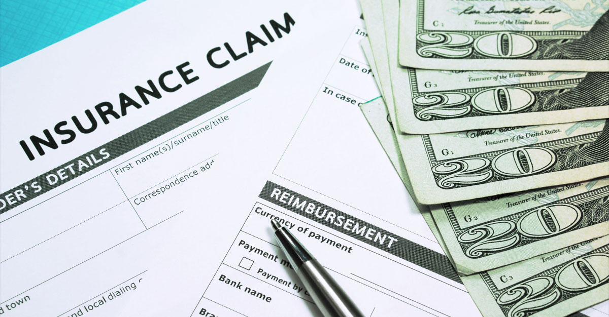 Insurance Claim with Cash Money
